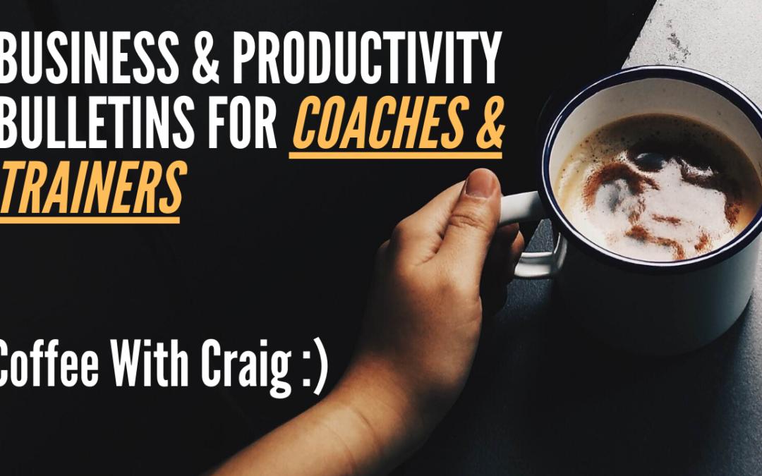 Private Invite: Coffee With Craig